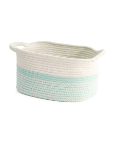Small Colorblock Twist Rope Tote Bin