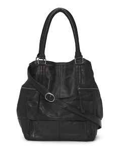 Hannah Zip Leather Bag