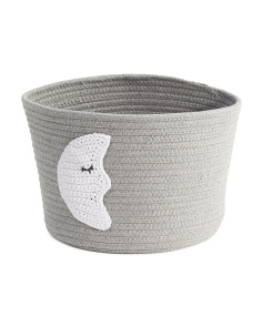 Kids Small Moon Rope Storage Bin