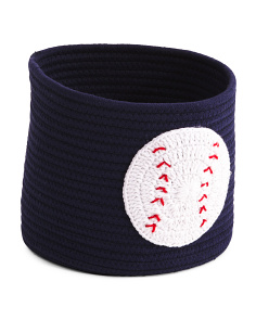 Kids Small Baseball Rope Storage Bin