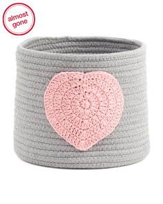 Small Heart Rope Storage Bin