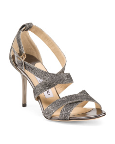 Made In Italy Glitter Sandals