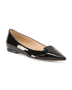 Made In Italy Pointy Toe Patent Leather Flats