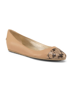Made In Italy Round Toe Leather Flats
