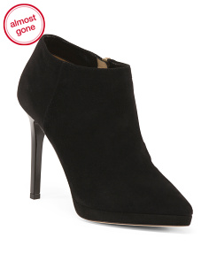Made In Italy Zip Suede Booties