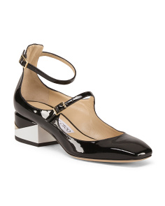 Made In Italy Patent Leather Mary Jane Pumps