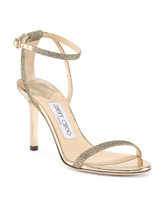 Made In Italy Glitter Patent Leather Sandals