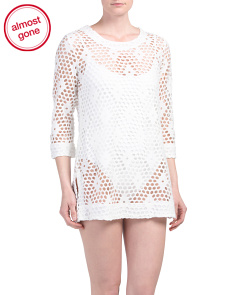 Mesh Open Hole Cover-up Tunic