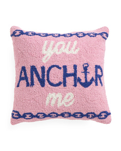 16x16 You Anchor Me Hook Pillow