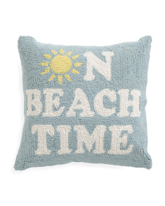18x18 On Beach Time Hook Pillow
