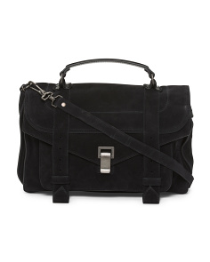 Made In Italy Ps1 Medium Suede Satchel