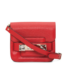 Made In Italy Classic Leather Crossbody