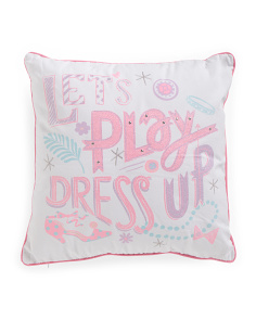 Kids 18x18 Lets Play Dress Up Pillow
