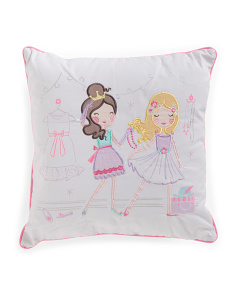 Kids 18x18 Pretty Girls Pillow