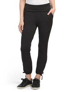 Foldover Ankle Tie Pants