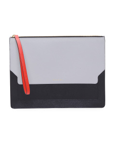 Made In Italy 3 Colors Leather Clutch