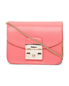Mini Leather Metropolis Crossbody