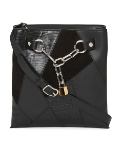 Leather Crossbody With Chain Detail