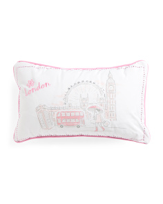 Kids 20x12 London Chic Girl Pillow