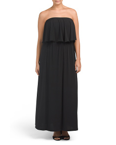 Plus Made In USA Ruffled Maxi Dress