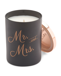 Mr. & Mrs. Black Orchid Candle
