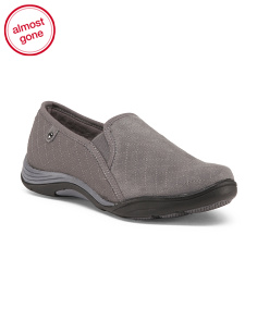 Wide Quilted Slip On Comfort Shoes