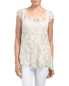 Starfish Hem Crochet Top