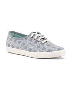 Basketweave Canvas Sneakers