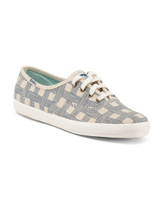 Basketweave Canvas Sneaker