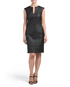 Lacquered Basketweave Dress