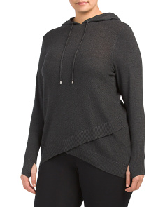 Plus Active Crossover Tunic Sweater