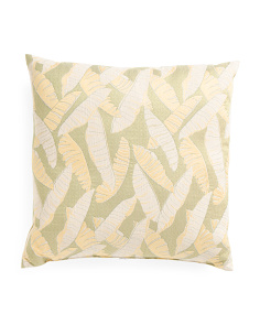 Made In USA 22x22 Jungle Leaves Pillow