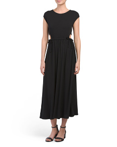 Cutout Tie Waist Maxi Dress