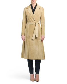 Made In Italy Suede Trench Coat