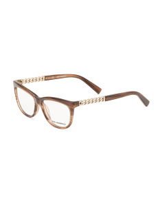 Striped Brown Optical Glasses