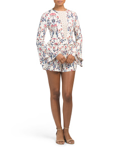 Juniors Bell Sleeve Romper