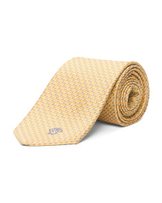 Made In Italy Geo Lines Silk Tie