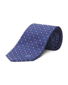 Made In Italy Square Plaid Silk Tie