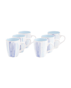 6pc Artish Swirl Mugs