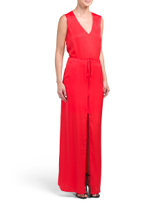 Sleeveless Maxi With Front Slit