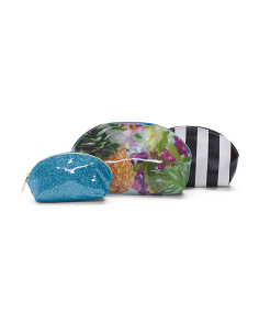 Set Of 3 Printed Cosmetic Cases