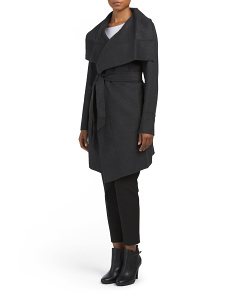 Double Face Wool Wrap Coat