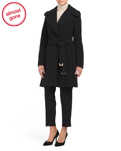 Wool And Cashmere Blend Wrap Coat