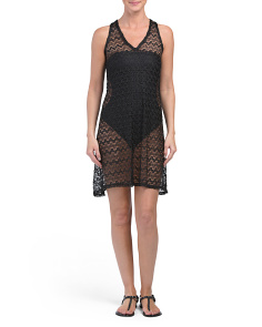 Made In USA Sleeveless Mesh Cover-up