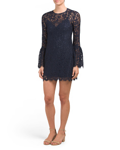 Carter Bell Sleeve Lace Dress
