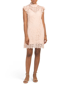 Kara Flutter Sleeve Lace Dress