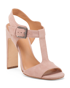 Suede T Strap Sandals