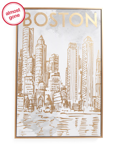 16x24 Boston Sketch Canvas Wall Art