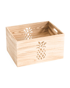 Large Pineapple Cut Out Storage Bin