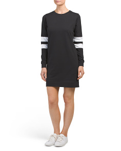 Juniors Long Sleeve Athleisure Dress